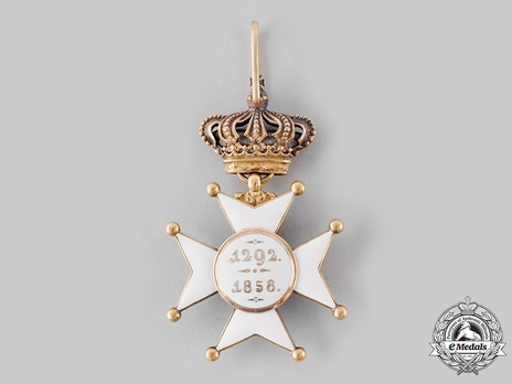 Order of Civil and Military Merit of Adolph of Nassau, Commander with Crown, in Gold (Civil Division) Reverse