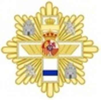 Grand Cross Breast Star (blue distinction) Obverse