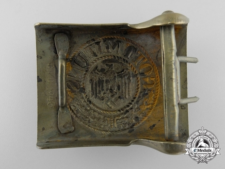 Kriegsmarine NCO/EM Belt Buckle (Gilt version) Reverse