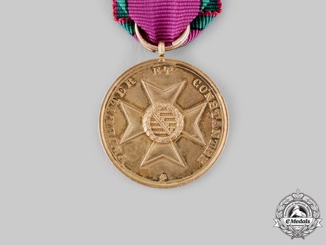 "Saxe-Altenburg House Order Medals of Merit, Type III, in Gold (stamped ""HELFRICHT F."")"