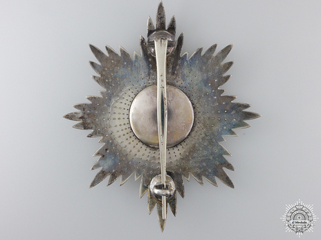 Grand Cross Breast Star (1938-) (by Garrard) Reverse