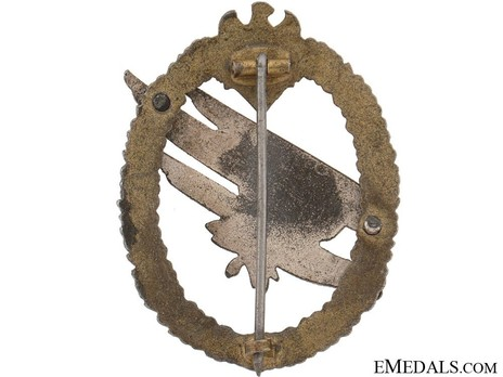 Army Paratrooper Badge, by F. Linden Reverse