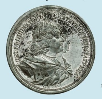 Coronation of the Empress Catherine I Table Medal