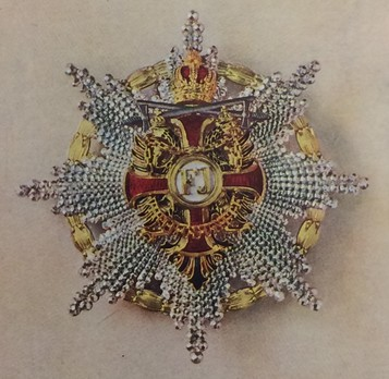 Order of Franz Joseph, Type II, Military Division, Grand Cross Breast Star (with silver swords)
