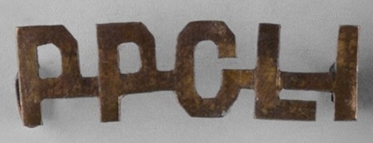 Princess Patricia's Canadian Light Infantry Other Ranks Shoulder Title (Straight) Obverse