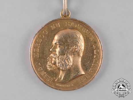 """Medal for Art and Science, Type I, in Gold (in silver gilt, stamped """"HELFRICHT F."""")"""