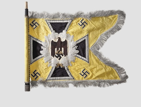 German Army General Army Unit Flag (Signal troops Motorized and Mounted version) Obverse