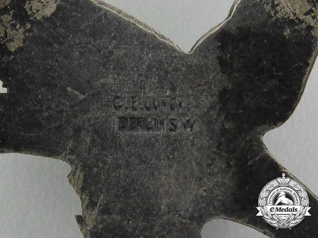 Air Gunner & Flight Engineer Badge, by C. E. Juncker (in tombac) Detail