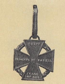 """""""Kanonenkreuz"""" (in gold)"""