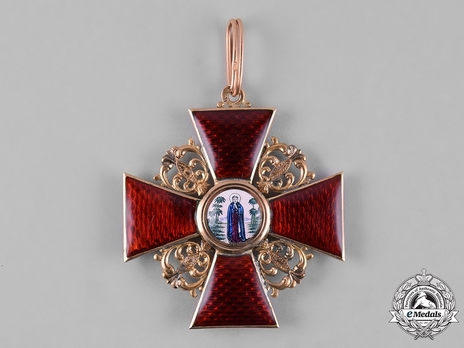 Order of St. Anne, Type II, Civil Division, I Class Badge (in gold)