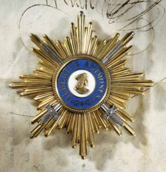 Albert Order, Type II, Military Division, Golden Grand Cross Breast Star (with swords in silver gilt, 1915-1918)
