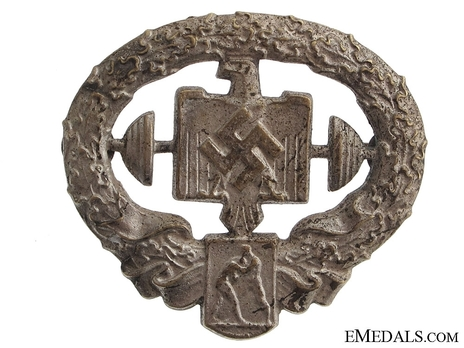 German Heavy Athletics Sports Badge, Type II, in Silver Obverse