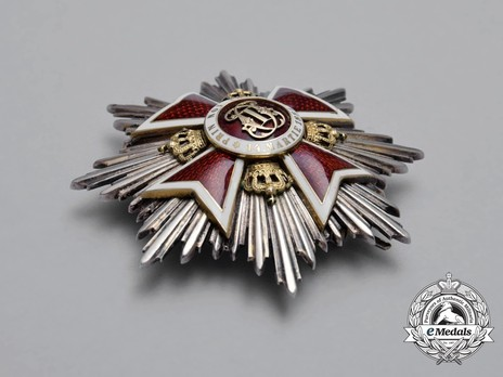 Order of the Romanian Crown, Type II, Civil Division, Grand Cross Breast Star Obverse