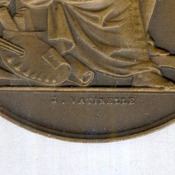"""Bronze Medal (stamped """"J VATINELLE"""") Obverse Detail"""