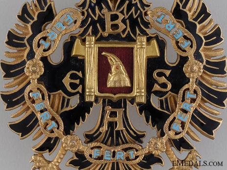 Order of Fidelity, Type II, Officer's Cross Obverse Detail