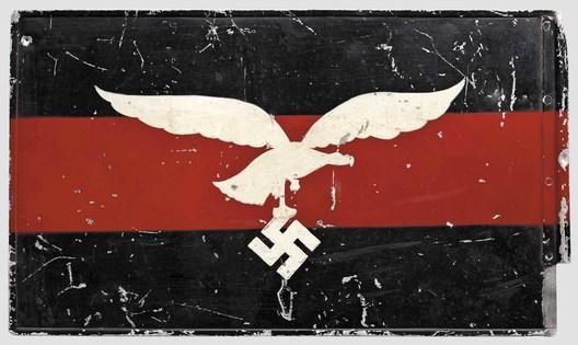 Luftwaffe Regiment Control Flag (Flakregiment version; Aluminum) Reverse
