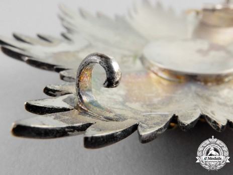 Royal Order of George I, Civil Division, Grand Cross Breast Star Reverse Detail