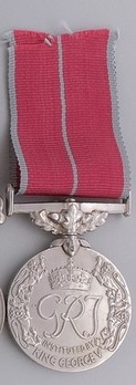"""Silver Medal (for Military, with King George VI """"GRI"""" cypher) Reverse"""