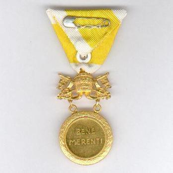 Bene Merenti Medal, Type X, Gold Medal Reverse