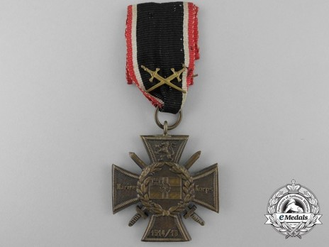 Commemorative Honour Cross of the Navy Corps, Flanders (with unofficial swords) Obverse