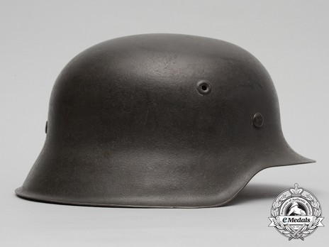 Waffen-SS Single Decal Steel Helmet M42 Right