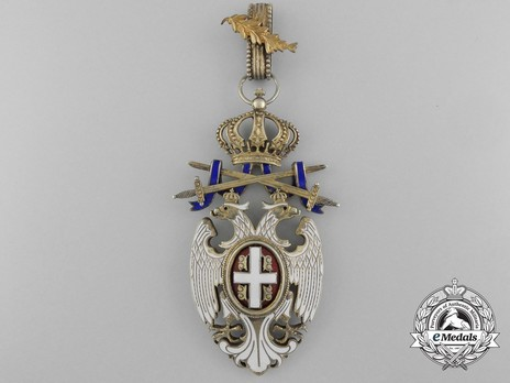 Order of the White Eagle, Type II, Military Division, II Class (with oak leaf) Obverse