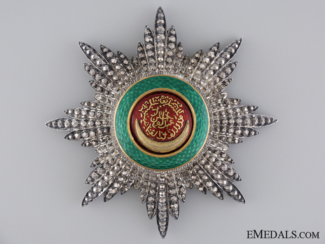 Order of Osmania, Civil Division, I Class Breast Star Obverse