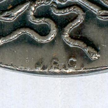 """Silver Medal (London manufacture, stamped """"JRG"""") Reverse Detail"""