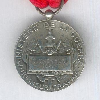 """Silver Medal (Ministry of War, stamped """"E M LINDAUER"""") Reverse"""