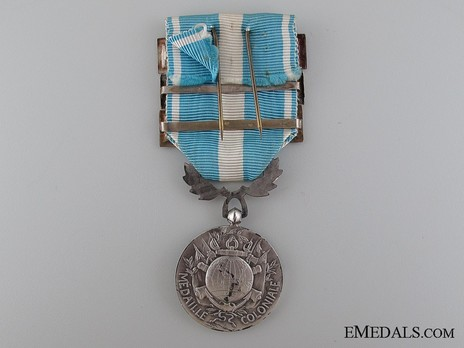 """Silver Medal (with 3 clasps, stamped """"GEORGES LEMAIRE"""") Reverse"""