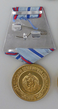 Construction Troops Long Service Medal, I Class (second issue) Reverse