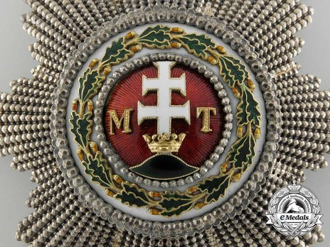 Order of St. Stephen, Type III, Grand Cross Breast Star (with faceted rays) Detail