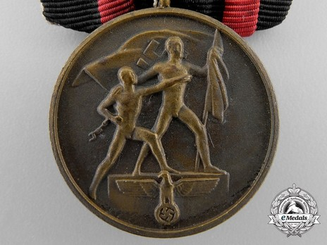 """Commemorative Medal of 1st October 1938 (Sudetenland Medal) (with """"Prague Clasp"""") Obverse"""