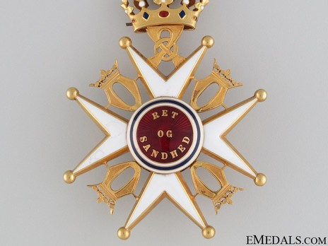 Order of St. Olav, II Class Commander, Civil Division Reverse