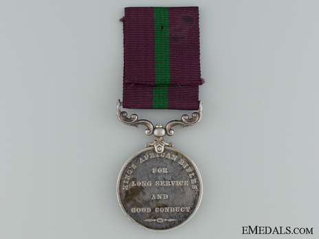 King's African Rifles Long Service and Good Conduct Medal Reverse