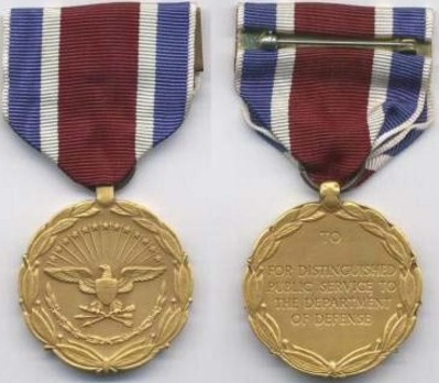Department of Defense Medal for Distinguished Public Service Obverse and Reverse