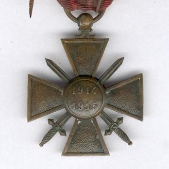 Bronze Cross (1914-1915) Reverse