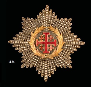 Equestrian Order of Merit of the Holy Sepulcher of Jerusalem, Type II, Grand Officer Breast Star