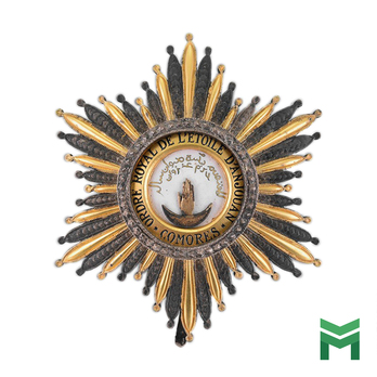 Order of the Star of Anjouan, Grand Cross Breast Star (1992-)