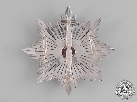 2nd Class Breast Star (white distinction) Reverse