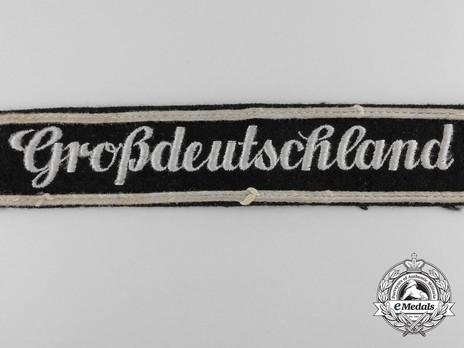 German Army Großdeutschland Cuff Title (Latin version) Obverse Detail 1