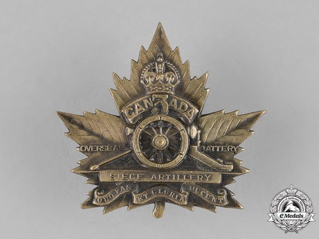 3rd Siege Battery Other Ranks Cap Badge Obverse