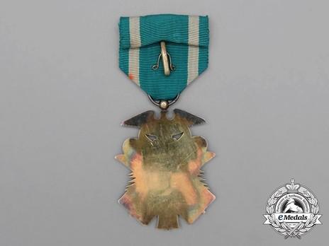 Order of the Golden Kite, VI Class Badge Reverse