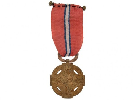 Revolutionary Cross, 1918, Bronze Cross (with ribbon decorations) Reverse