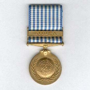 "Bronze Medal (with ""KOPEA"" clasp) Obverse"