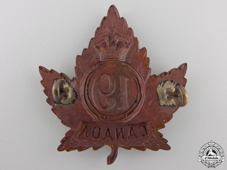 19th Infantry Battalion Other Ranks Cap Badge (Circle) Reverse