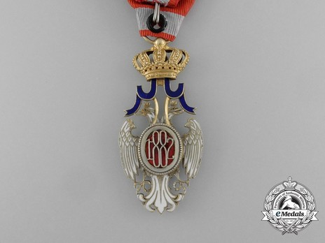 Order of the White Eagle, Type II, Civil Division, IV Class Reverse