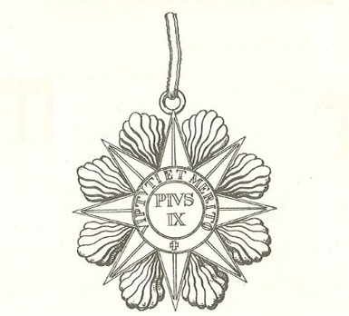 Order of Pius IX, Grand Commander Obverse