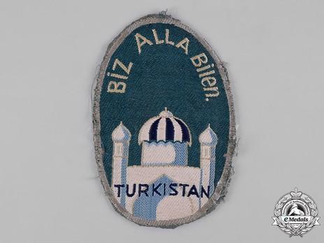 German Army Turkistan Legion Sleeve Insignia (1st version) Obverse