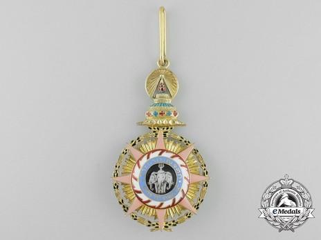 Order of Chula Chom Klao, Grand Cross, I Class Reverse